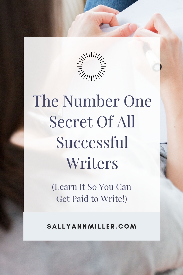 Learn this secret of successful authors to increase your chances of getting paid to write. #selfpublishing #writing