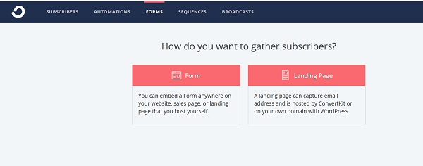 Form or landing page to grow your email list?
