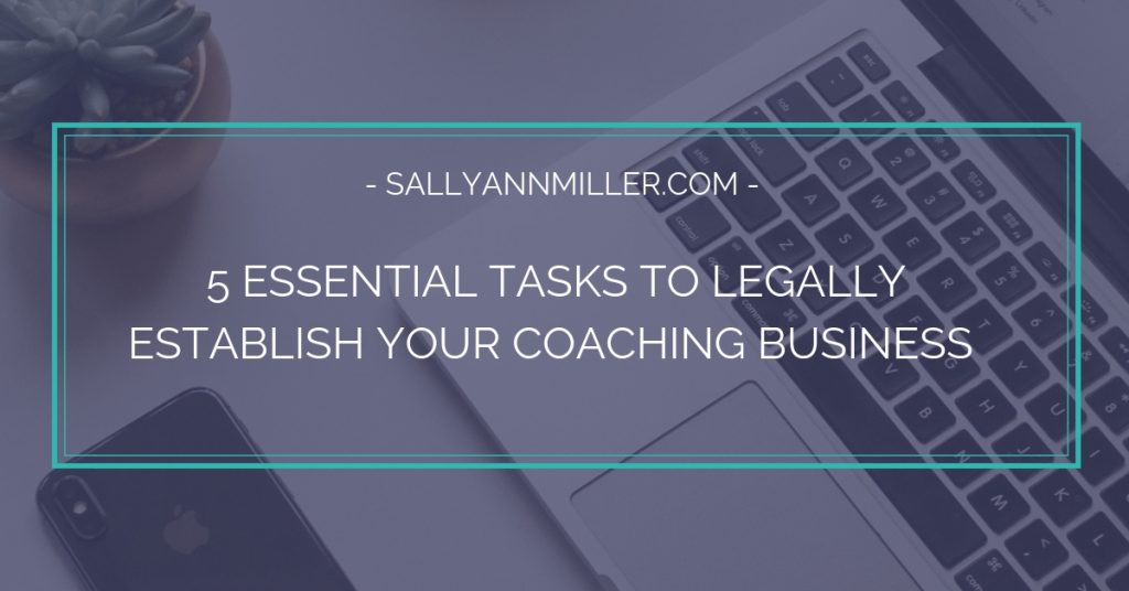 How to legally establish your coaching business