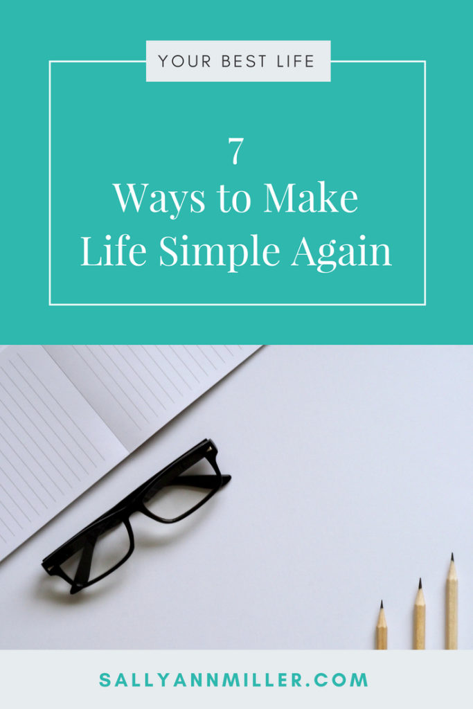 Are you tired of always feeling tired, stressed, and ovewhelmed? You can make life simple again. Here are seven simple living strategies. #simpleliving