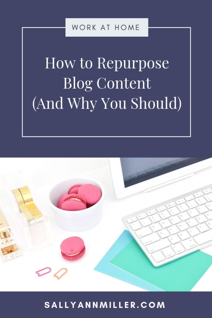 Lean how to repurpose blog content and save time as a blogger.